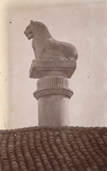 Side view of the lion capital of the Asoka Pillar at Basarh, Mizzarfurpur District